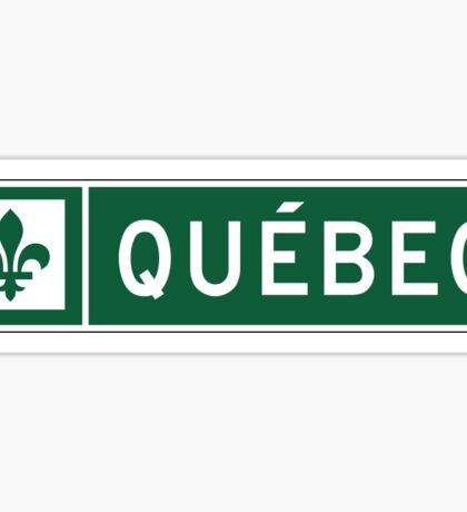 Quebec, Road Sign, Canada Sticker