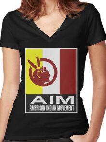 AIM Women's Fitted V-Neck T-Shirt