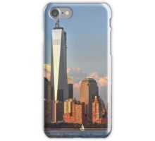 Lower Manhattan view from the Hudson River, NYC iPhone Case/Skin