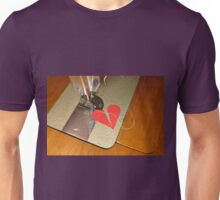 tailor try to sew two halves of broken heart together Unisex T-Shirt