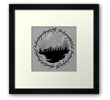 Roads Go Ever On Framed Print