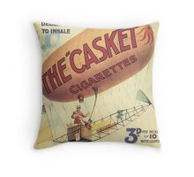Vintage poster - The Casket Cigarettes Throw Pillow