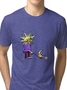 Moonwalk with Sun Tri-blend T-Shirt