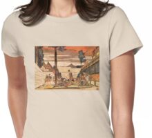 'First Act' by Katsushika Hokusai (Reproduction) Womens Fitted T-Shirt