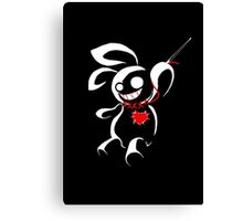 Contrasp - Hiding in the dark voodoo bunny Canvas Print