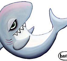 Reclining Shark by ryanhenryward
