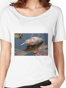 STOCK ~ Green Heron #2 Women's Relaxed Fit T-Shirt