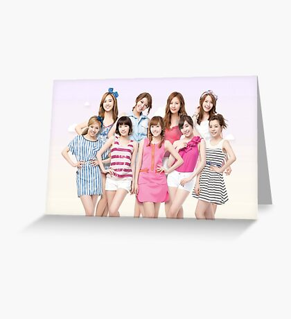 Girls Generation SNSD by bima Greeting Card