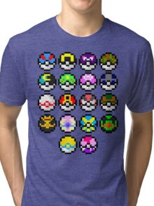 Pokeball Art Tri-blend T-Shirt