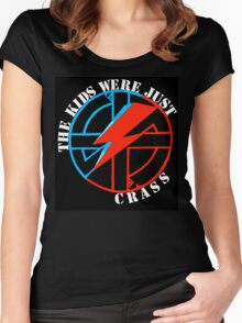 The Kids Were Just Crass Women's Fitted Scoop T-Shirt