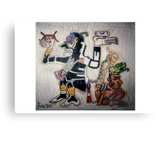 Aztec God of War Canvas Print