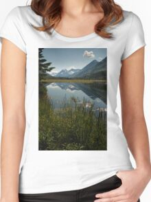 STOCK ~ Tern Lake in Reflection Women's Fitted Scoop T-Shirt