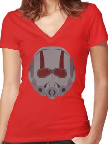 A Small Man Helmet Women's Fitted V-Neck T-Shirt
