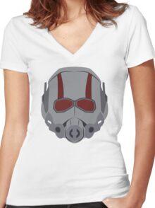 A Small Man Helmet Women's Fitted V-Neck T-Shirt