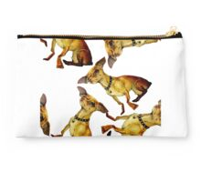 Chihuahua Oil Painting Pattern Studio Pouch