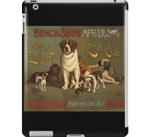'Kennel Club' Vintage Poster iPad Case/Skin