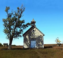 Bichet One-Room School in Autumn, Kansas by Catherine Sherman