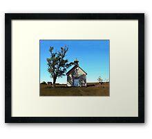 Bichet One-Room School in Autumn, Kansas Framed Print
