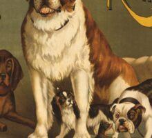 'Kennel Club' Vintage Poster Sticker