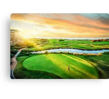 Golfing the Gong  (SW) Canvas Print