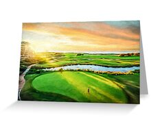 Golfing the Gong  (SW) Greeting Card