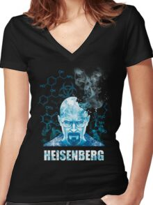 Heisenberg Blue Crystal by Yakei Women's Fitted V-Neck T-Shirt
