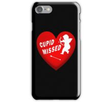 Cupid Missed The Target iPhone Case/Skin