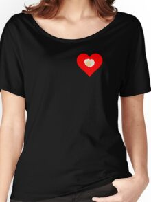 White Rose, Red Heart Women's Relaxed Fit T-Shirt