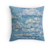 Skies of Fluffy Clouds Throw Pillow