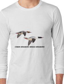 Common Mergansers  Isolated 2014-1 Long Sleeve T-Shirt