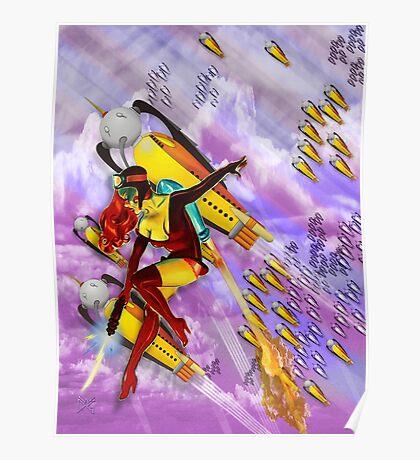 jetgirl rocketship squadron Poster