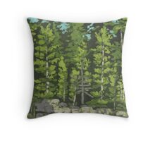 Trees and Rocks of Ontario Lakes Throw Pillow