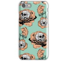 Flower Skull Pattern iPhone Case/Skin