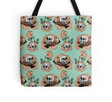 Flower Skull Pattern Tote Bag