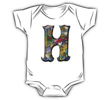 Doodle Letter H One Piece - Short Sleeve