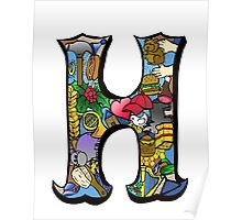 Doodle Letter H Poster
