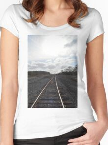 Rail Road Tracks Women's Fitted Scoop T-Shirt