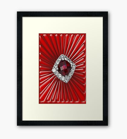 Red Pattern with a ruby  (2738 views) Framed Print