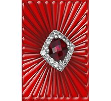 Red Pattern with a ruby  (2711 views) Photographic Print