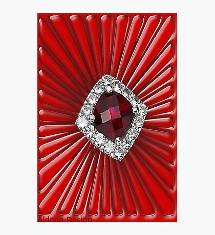 Red Pattern with a ruby  (2738 views) Photographic Print
