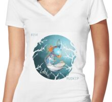 starter orbs - #258 axolytol Women's Fitted V-Neck T-Shirt