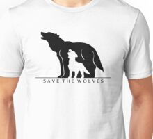 Save the Wolves (White Background) Unisex T-Shirt