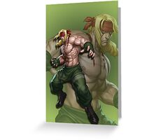 Alex Street Fighter III Phone Case Greeting Card
