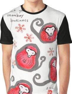 Monkey-Faced Daruma Dolls (Year of the Monkey) Graphic T-Shirt