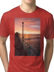 Sunset at Manhattan Beach Tri-blend T-Shirt
