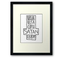 Pizza and Moar Framed Print