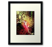 Dawnsing Wood Fox in Watercolor Framed Print