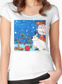 Christmas Card Series 1 - Design 7 Women's Fitted Scoop T-Shirt