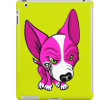Angry Chihuahua White & Pink iPad Case/Skin