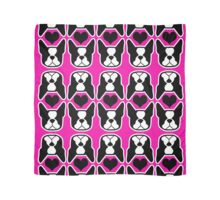 I love my Boston Terrier - Bosties and heart pattern Scarf